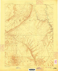 San Rafael Utah Historical topographic map, 1:250000 scale, 1 X 1 Degree, Year 1885