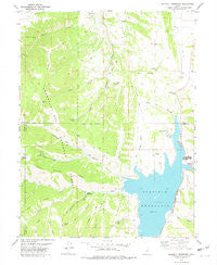 Scofield Reservoir Utah Historical topographic map, 1:24000 scale, 7.5 X 7.5 Minute, Year 1978