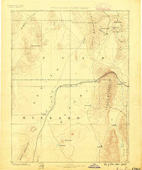 Sevier Desert Utah Historical topographic map, 1:250000 scale, 1 X 1 Degree, Year 1885
