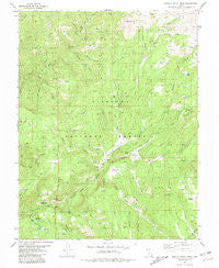 Shelly Baldy Peak Utah Historical topographic map, 1:24000 scale, 7.5 X 7.5 Minute, Year 1981