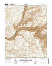 Slickhorn Canyon West Utah Current topographic map, 1:24000 scale, 7.5 X 7.5 Minute, Year 2014 from Utah Maps Store