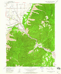 Spanish Fork Peak Utah Historical topographic map, 1:24000 scale, 7.5 X 7.5 Minute, Year 1949
