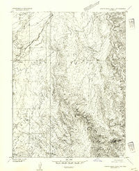 Stinking Spring Creek 2 NW Utah Historical topographic map, 1:24000 scale, 7.5 X 7.5 Minute, Year 1954