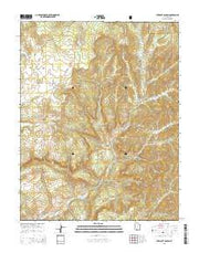 Straight Canyon Utah Current topographic map, 1:24000 scale, 7.5 X 7.5 Minute, Year 2014 from Utah Maps Store