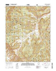 Upper Valley Utah Current topographic map, 1:24000 scale, 7.5 X 7.5 Minute, Year 2014