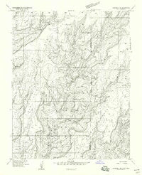 Verdure 4 SE Utah Historical topographic map, 1:24000 scale, 7.5 X 7.5 Minute, Year 1958
