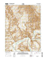 Vernal SE Utah Current topographic map, 1:24000 scale, 7.5 X 7.5 Minute, Year 2014