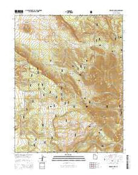 Warner Lake Utah Current topographic map, 1:24000 scale, 7.5 X 7.5 Minute, Year 2014