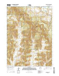 Warren Draw Utah Current topographic map, 1:24000 scale, 7.5 X 7.5 Minute, Year 2014