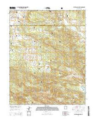 Water Canyon Peak Utah Current topographic map, 1:24000 scale, 7.5 X 7.5 Minute, Year 2014