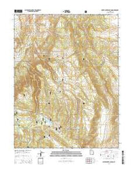 Water Creek Canyon Utah Current topographic map, 1:24000 scale, 7.5 X 7.5 Minute, Year 2014