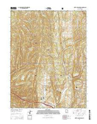 Water Hollow Ridge Utah Current topographic map, 1:24000 scale, 7.5 X 7.5 Minute, Year 2014