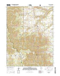 Wattis Utah Current topographic map, 1:24000 scale, 7.5 X 7.5 Minute, Year 2014