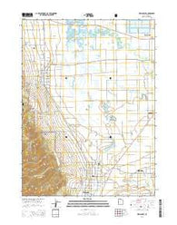 Wellsville Utah Current topographic map, 1:24000 scale, 7.5 X 7.5 Minute, Year 2014
