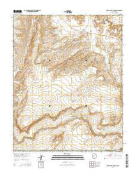 West Clark Bench Utah Current topographic map, 1:24000 scale, 7.5 X 7.5 Minute, Year 2014