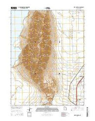 West Mountain Utah Current topographic map, 1:24000 scale, 7.5 X 7.5 Minute, Year 2014