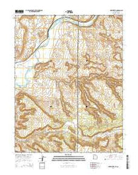 Westwater Utah Current topographic map, 1:24000 scale, 7.5 X 7.5 Minute, Year 2014