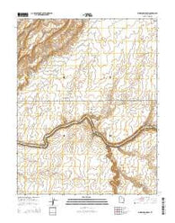 Whirlwind Draw Utah Current topographic map, 1:24000 scale, 7.5 X 7.5 Minute, Year 2014