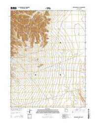 Whirlwind Valley SW Utah Current topographic map, 1:24000 scale, 7.5 X 7.5 Minute, Year 2014