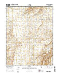 Whitbeck Knoll Utah Current topographic map, 1:24000 scale, 7.5 X 7.5 Minute, Year 2014