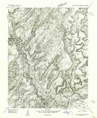 White Canyon 2 NW Utah Historical topographic map, 1:24000 scale, 7.5 X 7.5 Minute, Year 1954