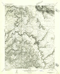 White Canyon 2 SE Utah Historical topographic map, 1:24000 scale, 7.5 X 7.5 Minute, Year 1954