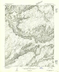 White Canyon 3 SW Utah Historical topographic map, 1:24000 scale, 7.5 X 7.5 Minute, Year 1954