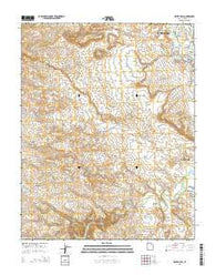 White Hills Utah Current topographic map, 1:24000 scale, 7.5 X 7.5 Minute, Year 2014