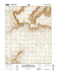 White Mesa Village SE Utah Current topographic map, 1:24000 scale, 7.5 X 7.5 Minute, Year 2014