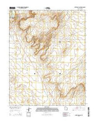 White Rock Point Utah Current topographic map, 1:24000 scale, 7.5 X 7.5 Minute, Year 2014