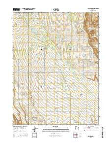 Whiterocks Utah Current topographic map, 1:24000 scale, 7.5 X 7.5 Minute, Year 2014
