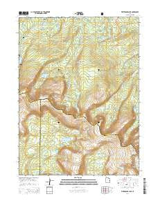 Whiterocks Lake Utah Current topographic map, 1:24000 scale, 7.5 X 7.5 Minute, Year 2014