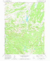 Whitney Reservoir Utah Historical topographic map, 1:24000 scale, 7.5 X 7.5 Minute, Year 1972
