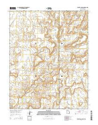 Wickiup Canyon Utah Current topographic map, 1:24000 scale, 7.5 X 7.5 Minute, Year 2014