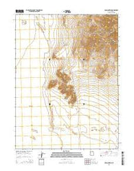 Wig Mountain Utah Current topographic map, 1:24000 scale, 7.5 X 7.5 Minute, Year 2014