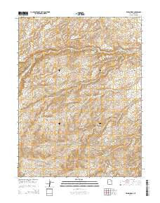 Wilkin Ridge Utah Current topographic map, 1:24000 scale, 7.5 X 7.5 Minute, Year 2014