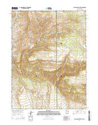 Willow Creek Butte Utah Current topographic map, 1:24000 scale, 7.5 X 7.5 Minute, Year 2014