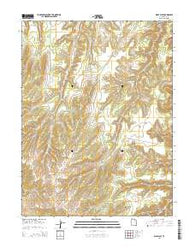 Wolf Flat Utah Current topographic map, 1:24000 scale, 7.5 X 7.5 Minute, Year 2014