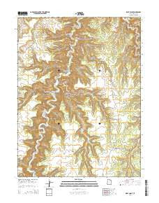 Wolf Point Utah Current topographic map, 1:24000 scale, 7.5 X 7.5 Minute, Year 2014