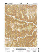 Wood Canyon Utah Current topographic map, 1:24000 scale, 7.5 X 7.5 Minute, Year 2014 from Utah Map Store