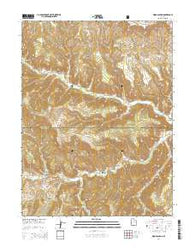 Wood Canyon Utah Current topographic map, 1:24000 scale, 7.5 X 7.5 Minute, Year 2014