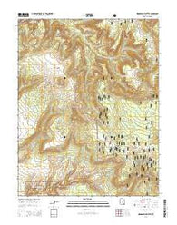 Woodenshoe Buttes Utah Current topographic map, 1:24000 scale, 7.5 X 7.5 Minute, Year 2014