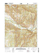 Woodland Utah Current topographic map, 1:24000 scale, 7.5 X 7.5 Minute, Year 2014 from Utah Map Store