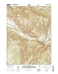 Woodland Utah Current topographic map, 1:24000 scale, 7.5 X 7.5 Minute, Year 2014