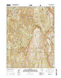 Woods Lake Utah Current topographic map, 1:24000 scale, 7.5 X 7.5 Minute, Year 2014