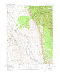 Woodside Utah Historical topographic map, 1:62500 scale, 15 X 15 Minute, Year 1949