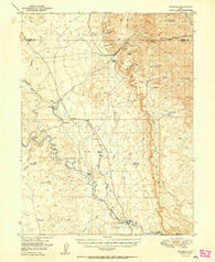 Woodside Utah Historical topographic map, 1:62500 scale, 15 X 15 Minute, Year 1950