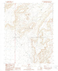 Yellow Rock Point West Utah Historical topographic map, 1:24000 scale, 7.5 X 7.5 Minute, Year 1989