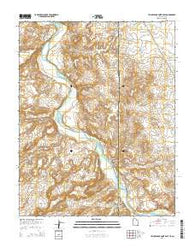Yellow Rock Point East Utah Current topographic map, 1:24000 scale, 7.5 X 7.5 Minute, Year 2014