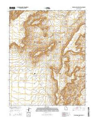 Yellow Rock Point West Utah Current topographic map, 1:24000 scale, 7.5 X 7.5 Minute, Year 2014